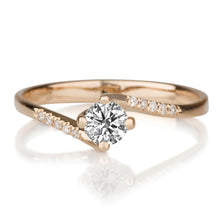 "Load image into Gallery viewer, 0.3 TCW 14K Yellow Gold Twist Diamond  ""Delphine"" Engagement Ring"