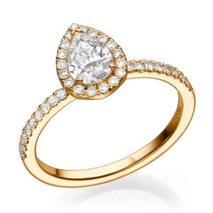 "1 Carat 14K Rose Gold Diamond ""Philippa"" Engagement Ring"