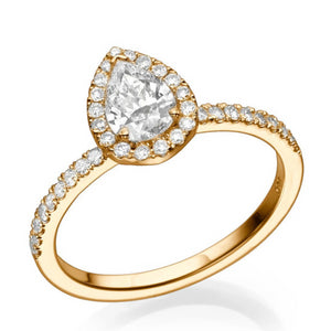 "1 Carat 14K Yellow Gold Diamond ""Philippa"" Engagement Ring"
