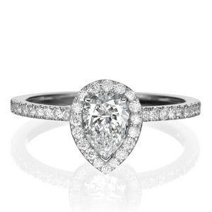 "1 Carat 14K White Gold Diamond ""Philippa"" Engagement Ring"