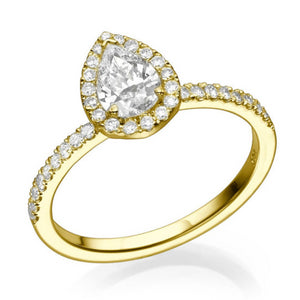 "1.06 TCW 14K Yellow Gold Diamond ""Philippa"" Engagement Ring"