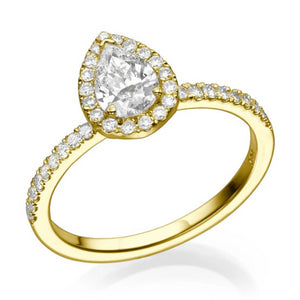 "1.06 TCW 14K Rose Gold Diamond ""Philippa"" Engagement Ring"