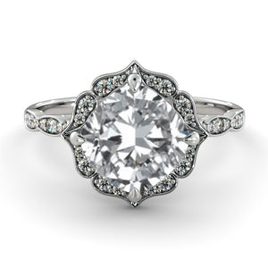 "1.75 Carat 14K White Gold Diamond ""Florence"" Engagement Ring"