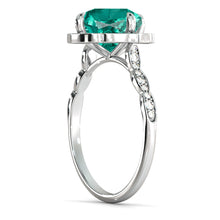 "Load image into Gallery viewer, 1.25 Carat 14K Yellow Gold Emerald & Diamonds ""Florence"" Engagement Ring"
