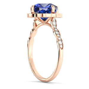 "1.25 TCW 14K Yellow Gold Blue Sapphire ""Florence"" Engagement Ring"