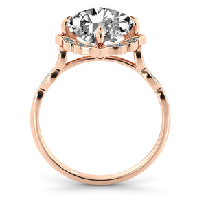 "1.3 Carat 14K Yellow Gold Moissanite & Diamonds ""Florence"" Engagement Ring"