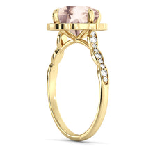 "Load image into Gallery viewer, 2.2 Carat 14K White Gold Morganite & Diamonds ""Florence"" Engagement Ring"