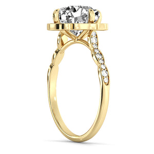 "1.3 Carat 14K Rose Gold Moissanite & Diamonds ""Florence"" Engagement Ring"