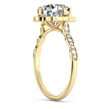 "Load image into Gallery viewer, 1.3 Carat 14K Yellow Gold Moissanite & Diamonds ""Florence"" Engagement Ring"