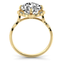 "Load image into Gallery viewer, 1.3 Carat 14K Rose Gold Moissanite & Diamonds ""Florence"" Engagement Ring"