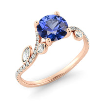 "Load image into Gallery viewer, 2 Carat 14K White Gold Blue Sapphire ""Lucia"" Engagement Ring"