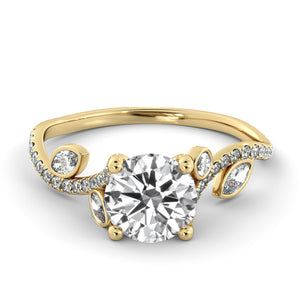"1.2 Carat 14K White Gold Diamond ""Lucia"" Engagement Ring"