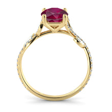 "Load image into Gallery viewer, 2 Carat 14K White Gold Ruby ""Lucia"" Engagement Ring"