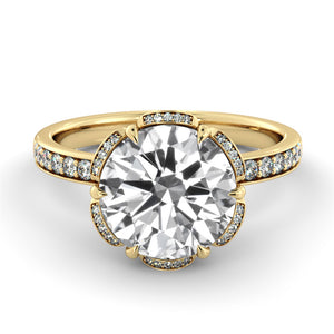 "2 Carat Carat 14K Yellow Gold Diamond ""Allison"" Engagement Ring"