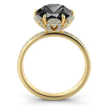 "Load image into Gallery viewer, 1.5 TCW 14K White Gold Black Diamond ""Allison"" Engagement Ring - Diamonds Mine"