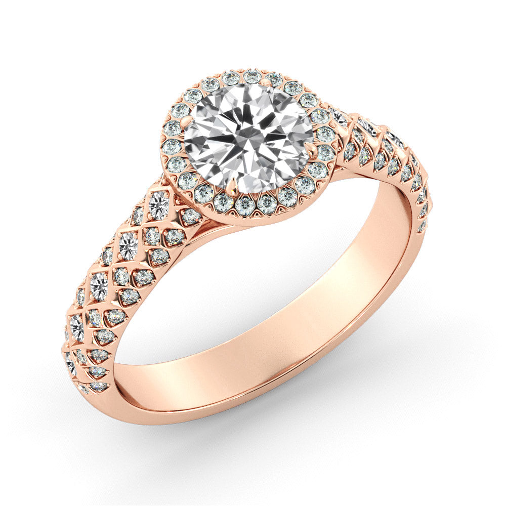 1.5 Carat 14K Rose Gold Moissanite & Diamonds