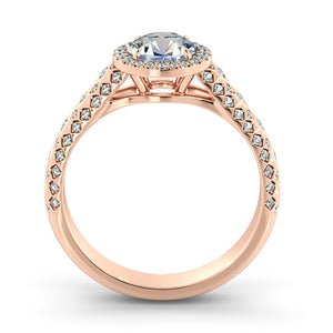 "1.5 Carat 14K Rose Gold Moissanite & Diamonds ""Beatrice"" Engagement Ring"