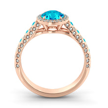 "Load image into Gallery viewer, 2.5 TCW 14K White Gold Blue Topaz ""Beatrice"" Engagement Ring"