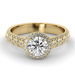 "1.75 Carat Carat 14K Yellow Gold Diamond ""Beatrice"" Engagement Ring"