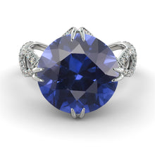 Load image into Gallery viewer, 2 Carats Natural Crown Blue Sapphire Engagement Ring - Diamonds Mine