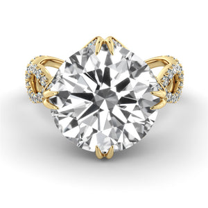 "3 Carat Carat 14K Yellow Gold Diamond ""Katherine"" Engagement Ring"