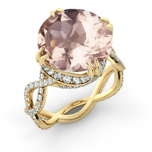 "3.75 TCW 14K White Gold Morganite ""Katherine"" Engagement Ring"