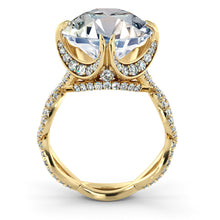 "Load image into Gallery viewer, 4.3 Carats 14K Rose Gold Moissanite & Diamonds ""Katherine"" Engagement Ring"