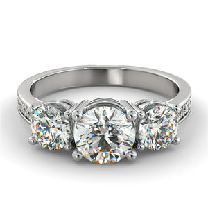 1.6 Carat 14K White Gold Diamond