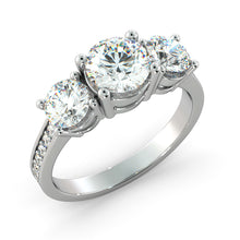 "Load image into Gallery viewer, 1.6 Carat 14K White Gold Diamond ""Heather"" Engagement Ring"