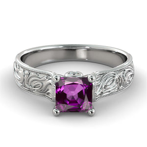"2.06 TCW 14K Yellow Gold Amethyst ""Harmony"" Engagement Ring"