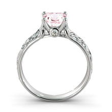 "Load image into Gallery viewer, 1 Carat 14K Rose Gold Morganite & Diamonds ""Harmony"" Engagement Ring"