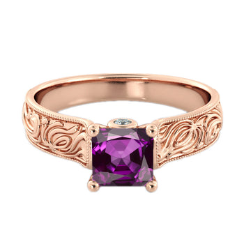 Antique Filigree Amethyst Ring - Diamonds Mine