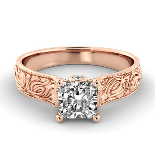 1.06 TCW 14K Rose Gold Diamond