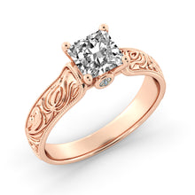 "Load image into Gallery viewer, 1.5 Carat 14K White Gold Diamond ""Harmony"" Engagement Ring"