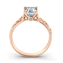 "Load image into Gallery viewer, 2 Carat 14K Yellow Gold Diamond ""Harmony"" Engagement Ring"