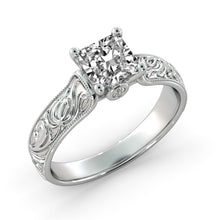 "Load image into Gallery viewer, 1.5 Carat 14K White Gold Diamond ""Harmony"" Engagement Ring 