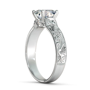 "1.06 TCW 14K White Gold Moissanite ""Harmony"" Ring"