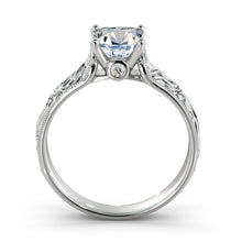 "Load image into Gallery viewer, 1.1 Carat 14K White Gold Moissanite & Diamonds ""Harmony"" Ring"