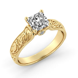 "1.1 Carat 14K White Gold Moissanite & Diamonds ""Harmony"" Ring"