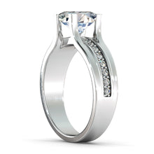"Load image into Gallery viewer, 1.2 Carat 14K White Gold Moissanite & Diamonds ""Bridget"" Engagement Ring 