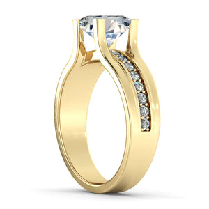 "1.2 Carat 14K Rose Gold Moissanite & Diamonds ""Bridget"" Engagement Ring"