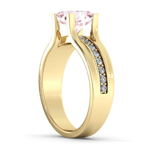 "1.2 TCW 14K Yellow Gold Morganite ""Bridget"" Engagement Ring"