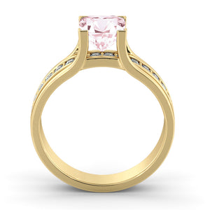"1.2 Carat 14K Rose Gold Morganite & Diamonds ""Bridget"" Engagement Ring"