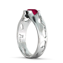 "Load image into Gallery viewer, 2 Carat 14K Rose Gold Ruby ""Diane"" Engagement Ring"