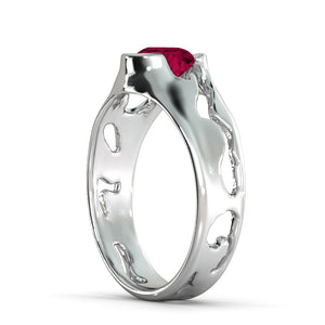 "2 Carat 14K White Gold Ruby ""Diane"" Engagement Ring"