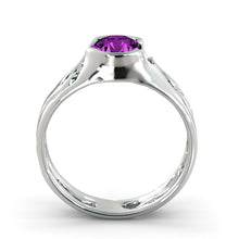 "Load image into Gallery viewer, 1 Carat 14K Rose Gold Amethyst ""Diane"" Engagement Ring"