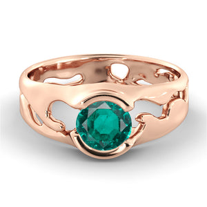 1 Carat 14K Rose Gold Emerald
