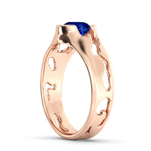 "Load image into Gallery viewer, 1 Carat 14K White Gold Blue Sapphire ""Diane"" Engagement Ring"