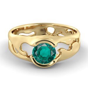 "1 Carat 14K Rose Gold Emerald ""Diane"" Engagement Ring"