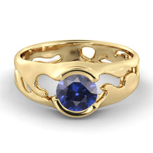 "Load image into Gallery viewer, 1 Carat 14K Rose Gold Blue Sapphire ""Diane"" Engagement Ring"